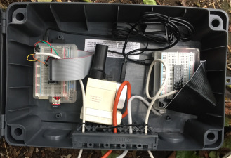 Photo of inside the connected box