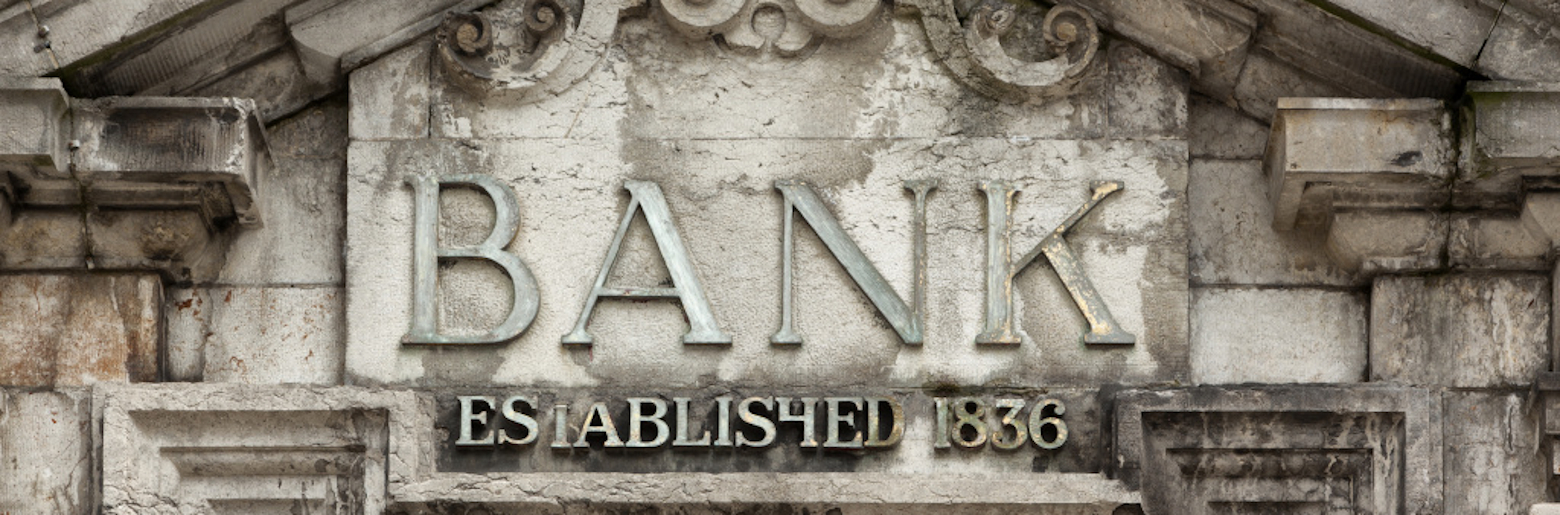 Photo of the front of a bank, established in 1836
