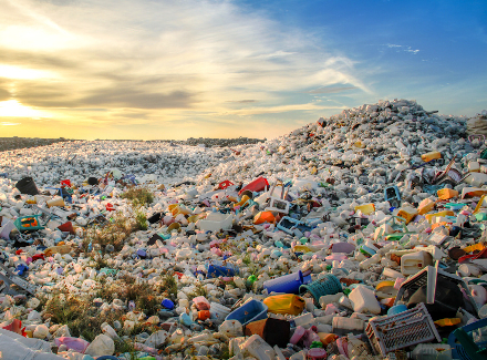 Photo of a large landfill