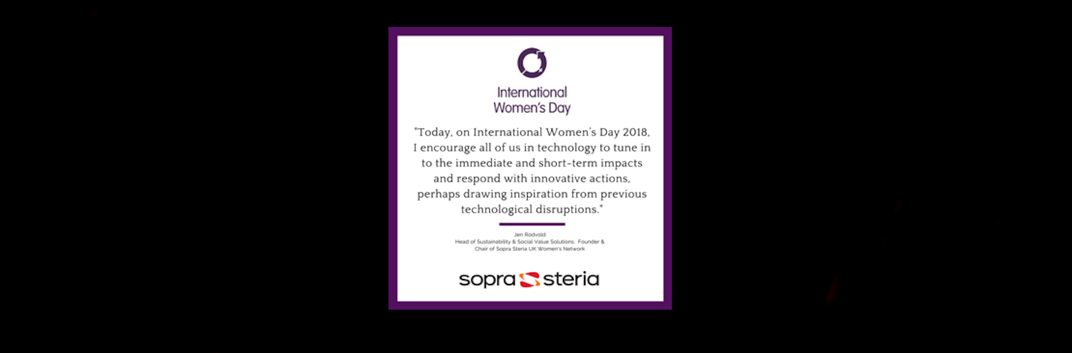 Jen Rodvold's quote for International Women's day 2018