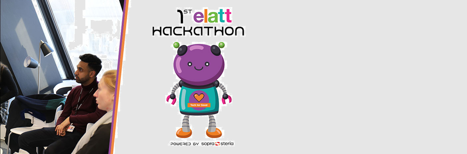 Banner photo for the ELATT Hackathon, including some Junior Consultants
