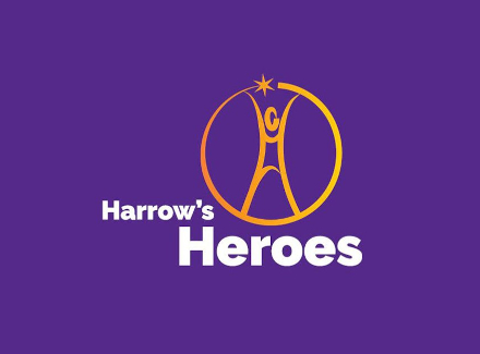 Photo of the Harrow's Heroes logo