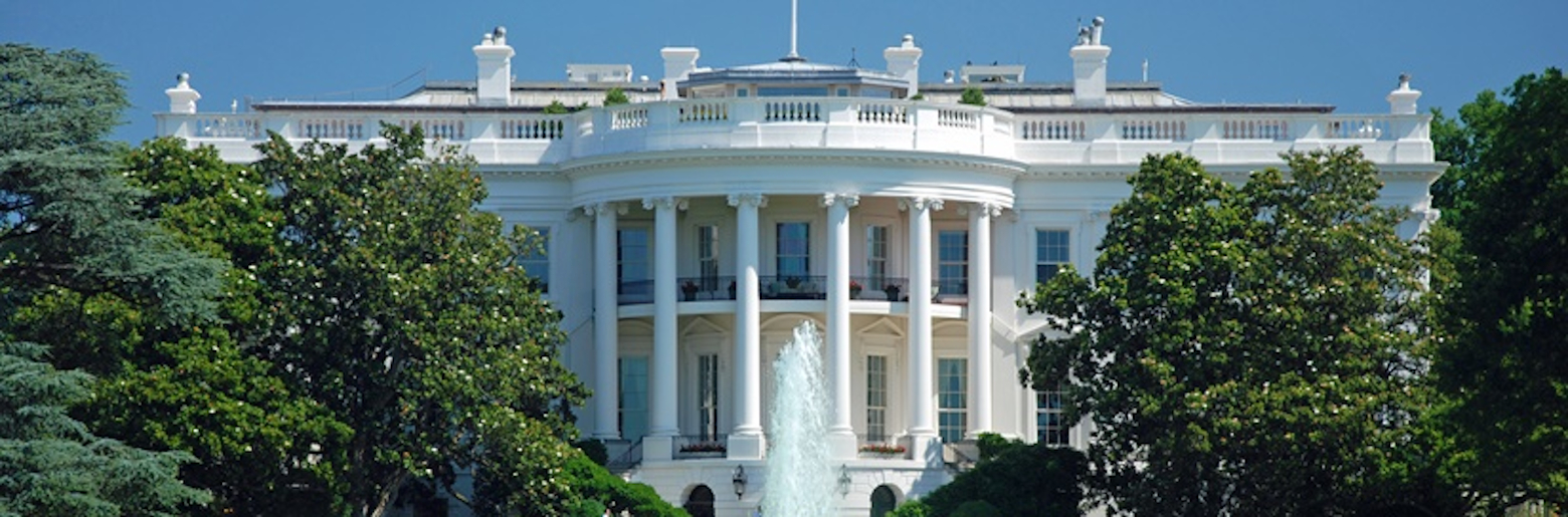 Landscape photo of the Whitehouse in the USA