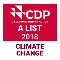 CDP A List 2018 Climate Change award logo